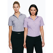 Ladies Toorak Check Short Sleeve Shirt
