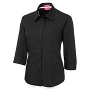 JB's Ladies Contrast Placket 3/4 Sleeve Shirt