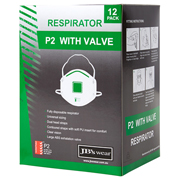 JB'S P2 RESPIRATOR WITH VALVE (12PC)