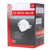 P2 + Valve Foldable Respirator (12pc)