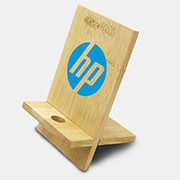 Groove Bamboo Phone Stand