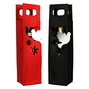 Salt&Pepper Felt Christmas Wine Bag