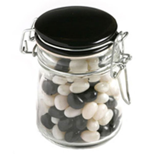 Jelly Beans In Clip Lock Jar 160G (Mixed Colours Or Corporate Colours) (Sticker)