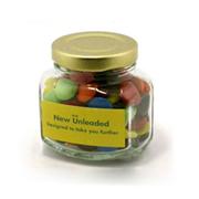 Choc Beans in Squexagonal Jar 90G