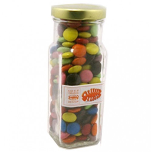 Coloured Choc Beans In Tall Jar 220G