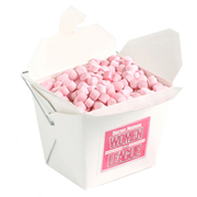 White Cardboard Noodle Box Filled With Mints Or Musks 100G