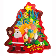 Custom Shaped Bag Filled with 25g Corporate Coloured Humbugs