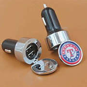 DUAL ROUND METAL CAR CHARGER