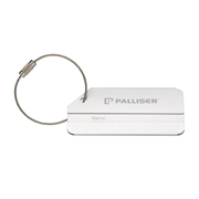 Brushed Aluminium Luggage Tag