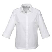 Hot Ladies Luxe Premium Cotton 3-4 Sleeve Shirt