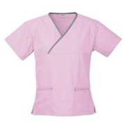 Hot Scrubs Ladies Contrast Crossover Top