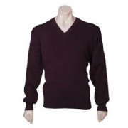 Hot Mens V Neck Woolmix Pullover