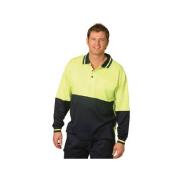 Hot Hi Vis Long Sleeve Polo
