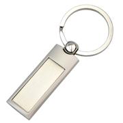 Silver Panel Key Ring