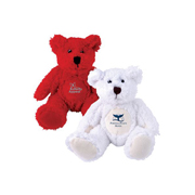 Zoe (Red) Snowy (White) Plush Teddy Bear