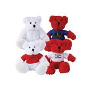 Zoe (Red) Snowy (White) Plush Teddy Bear