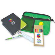 Back To School Kit - Malibu Pouch, Argos Notebook, Virgo Pen, Ruler, Pencils