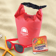 Sand & Beach Kit 1 - River Waterproof Bag, Horizon Sunglasses, Quench Bottle Opener/ Coaster