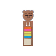 Bear Dye Cut Bookmark / Ruler with Noteflags