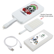 Suction Cup Power Bank With 8 Pin Ribbon Cable (Stock)