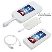 Suction Cup Power Bank With Micro Usb Cable (Stock)