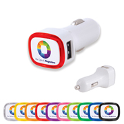 Family Light Up Dual Usb Car Charger (Stock)