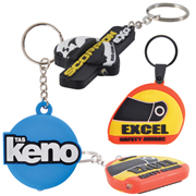 PVC Custom Shape Moulded LED Keytag Torch