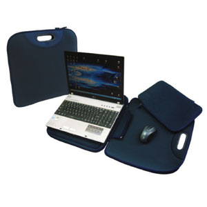 Notebook Buddy Bag with Detachable Pocket