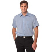 Men's Fine Chambray Short Sleeve Shirt