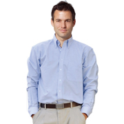 Men's Washed Oxford Long Sleeve Shirt