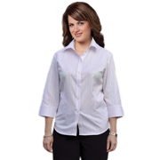 Women's Self Stripe 3/4 Sleeve Shirt