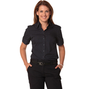 Women's Pin Stripe Short Sleeve Shirt