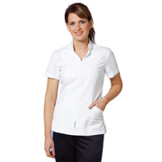 Women's Zip Front Short Sleeve Tunic
