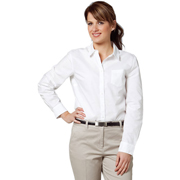 Women's Washed Oxford Long Sleeve Shirt