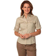 Women's Short Sleeve Military Shirt