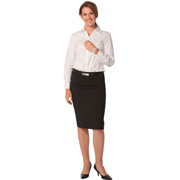 Women's Wool Stretch Mid Length Lined Pencil Skirt