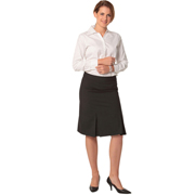 Women's Wool Stretch Pleated Skirt
