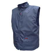 Waterproof Fleecy Lined Vest. Oxford Outer Polar Fleecy Inner. Reversible, Wear inside or Out.*Larger Sizes Available