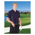 Mens Golf Stripe Jacquard Polo