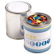 Paint Tin Filled With Choc Beans 250G