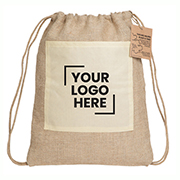 Reforest Jute Drawstring Backpack