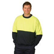 High Visibility Two Tone Crew Neck Safety Windcheater