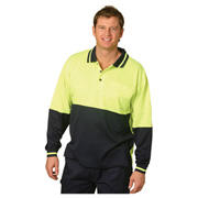 High Visibility TrueDry® Long Sleeve Safety Polo