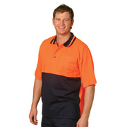 High Visibility TrueDry® Short Sleeve Safety Polo