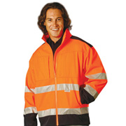 2-Tone Softshell Safety Jacket With 3M Reflective Tapes