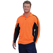 Men's TrueDry® Long Sleeve Hi-Vis Polo