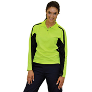 Women's TrueDry® Long Sleeve Hi-Vis Polo
