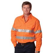 High Visibility Regular Weight Long Sleeve Drill Shirt