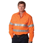 High Visibility Regular Weight Long Sleeve Drill Shirt