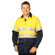 Men's High Visibility Cool-Breeze Cotton Twill Safety Shirts.